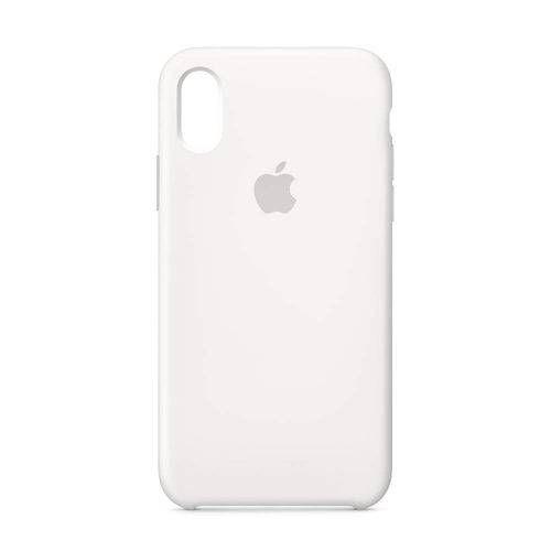 Capa Iphone XR Silicone Case Apple Branco