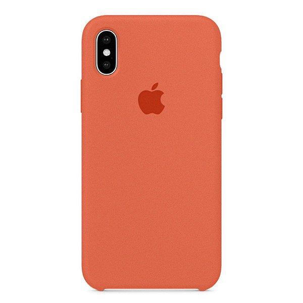 Capa Iphone X Silicone Case Apple Salmão
