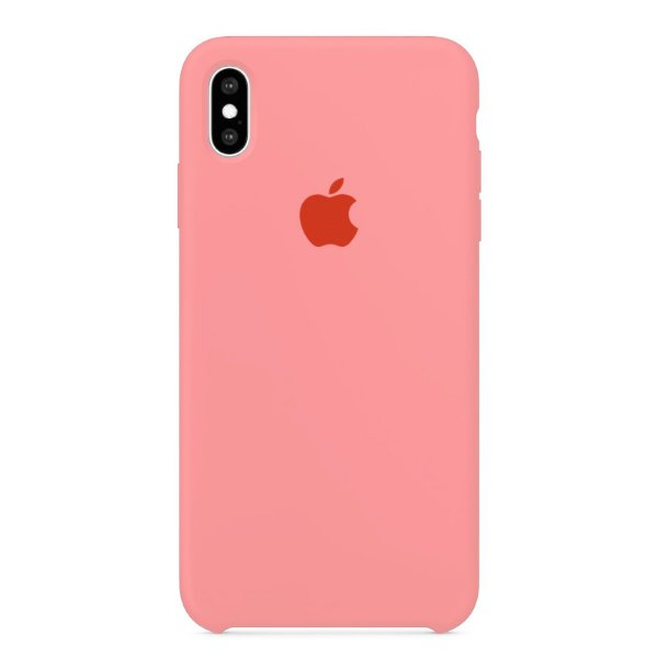 Capa Iphone XS Max Silicone Case Apple Rosa