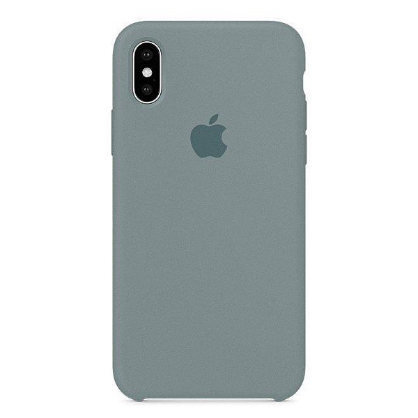 Capa Iphone X Silicone Case Apple Cinza Espacial