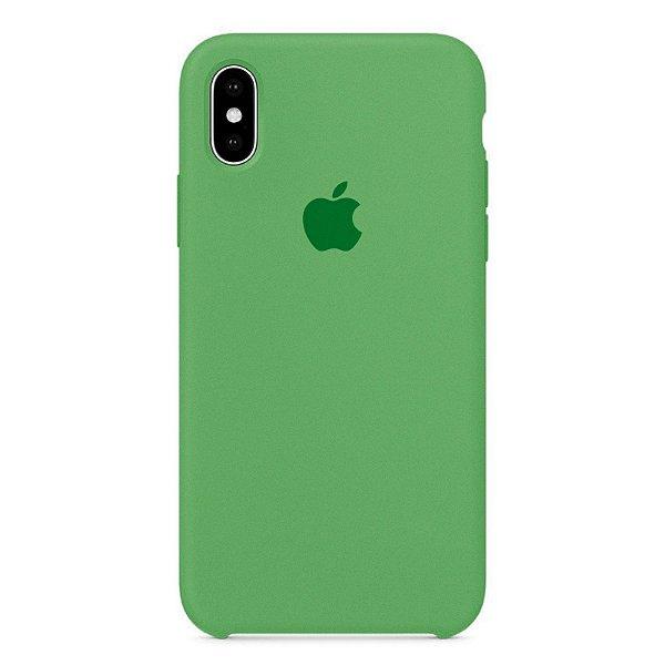 Capa Iphone X Silicone Case Apple Verde