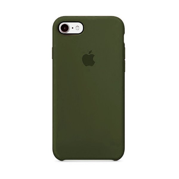 Capa para iPhone 6 e 6s Silicone Case Apple Verde Musgo