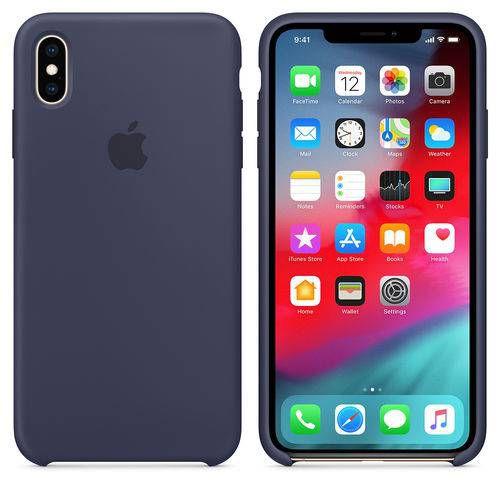Capa para Iphone XS MAX Silicone Case Apple Azul
