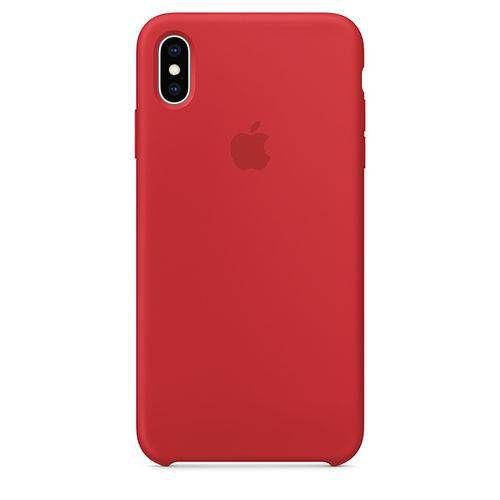 Capa Iphone Xs Max Silicone Case Apple Vermelho