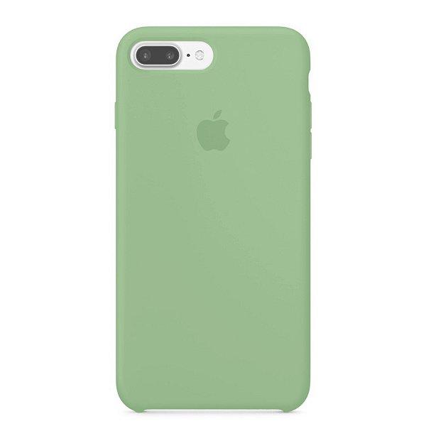 Capa para iPhone 8 Plus e 7 Plus em Silicone Apple Verde