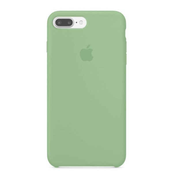 Capa para iPhone 8 Plus e 7 Plus em Silicone Apple Verde