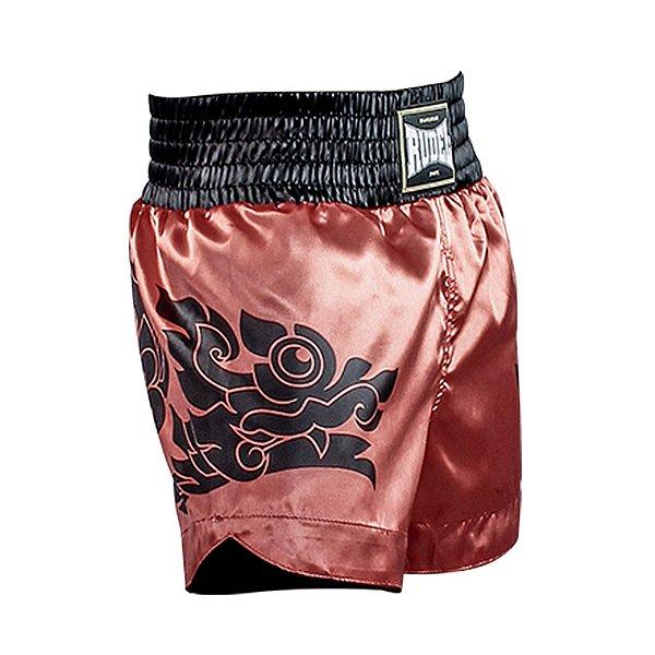 Shorts de Muay Thai Cetim MT13 Dragão Mellon Rudel Sports Tamanho P