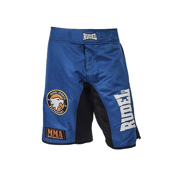 Bermuda Masculino MMA Adler 1 Azul e Preto Rudel Sports Tamanho M