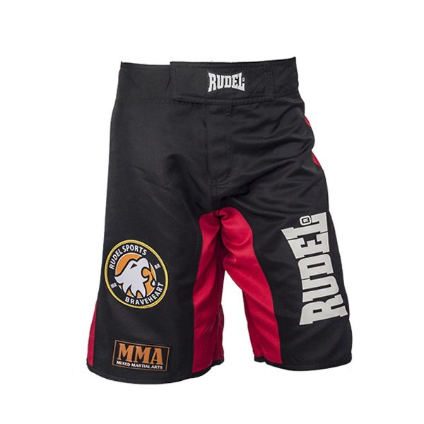Bermuda Masculino MMA Adler 1 Vermelho Preto Rudel Sports Tamanho M