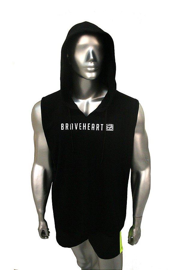Camiseta Regata Abrigo Boxer Braveheart Preto Rudel Sports