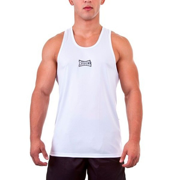 Camiseta Regata Dry I Branco Rudel Sport Tamanho P