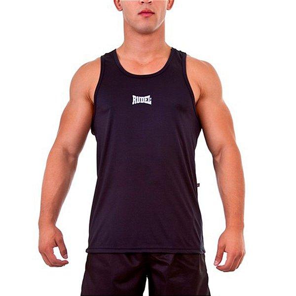 Camiseta Regata Dry I Preto Rudel Sports Tamanho G