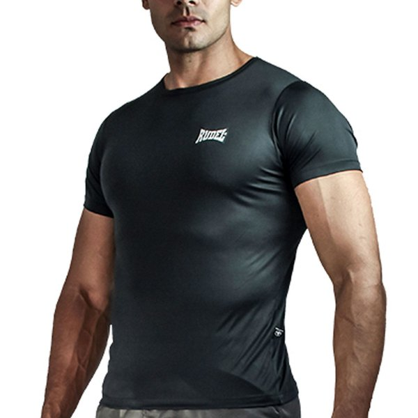 Camiseta Baby Look Muscle Dry Masculino Preto Rudel Sports Tamanho G