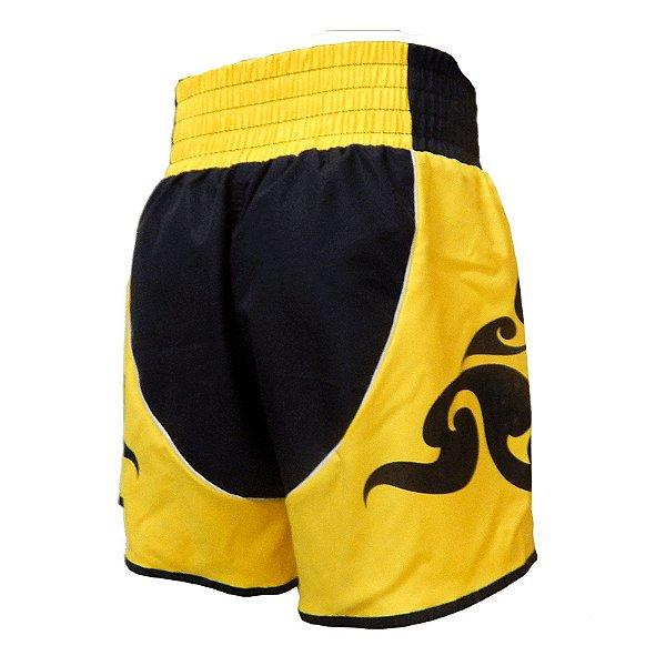 Shorts de Muay Thai MT16 Amarelo Rudel Sports Tamanho GG