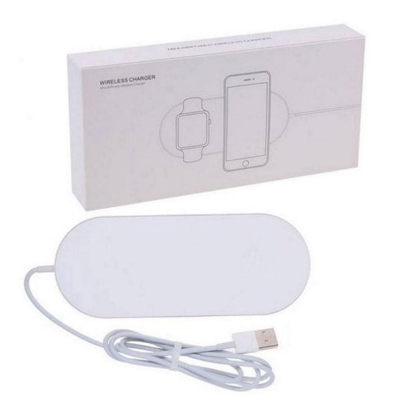 Carregador Sem Fio Usb Rapido Adaptador De Carregamento De Telefone Para Apple Watch Iwatch 3 2 Iphone X 8