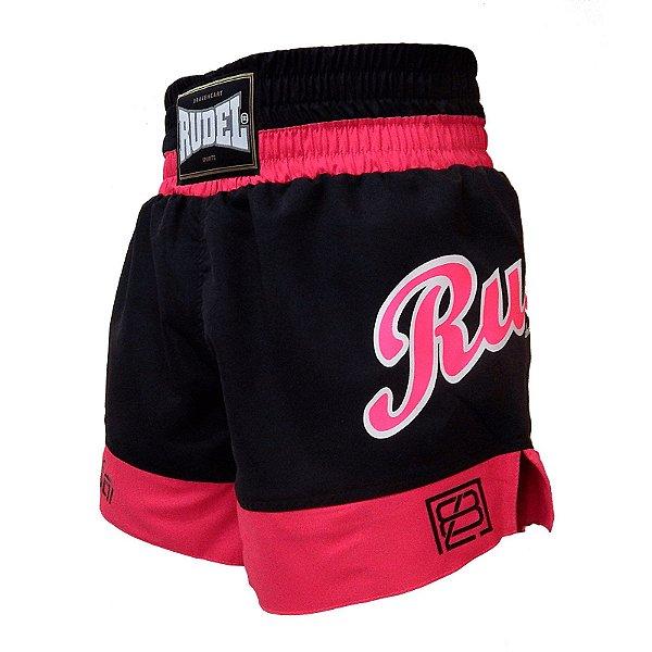 Shorts de Muay Thai Femino Pink Rudel Sports Tamanho G