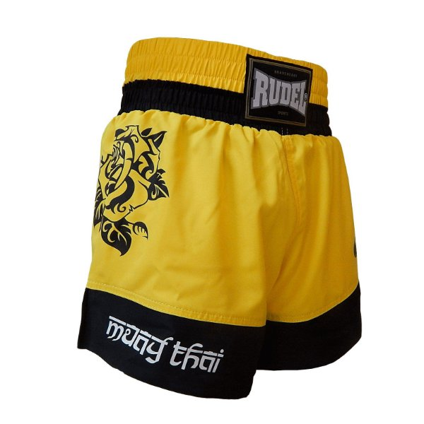 Shorts de Muay Thai Femino Amarelo Rudel Sports Tamanho G