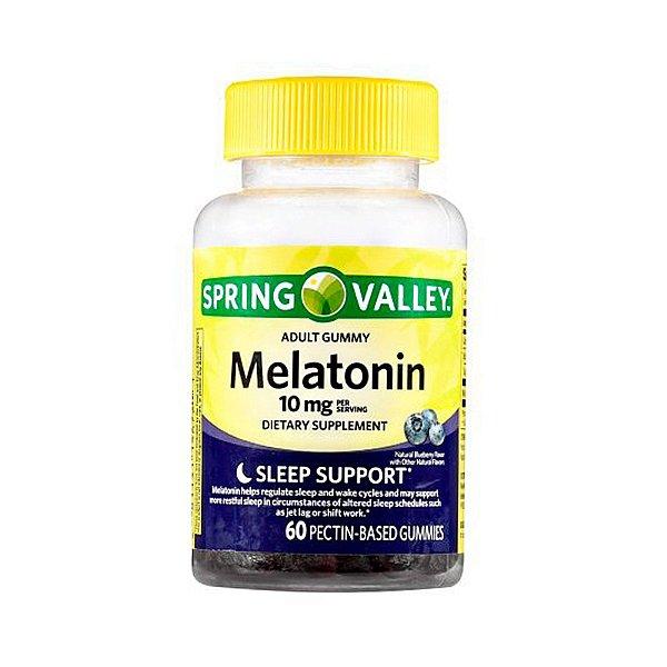 Melatonina De Gomas Spring Valley 10mg Suplemento Dietético
