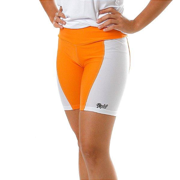 Shorts Subimission Feminino Laranja e Branco Rudel Sports Tamanho M