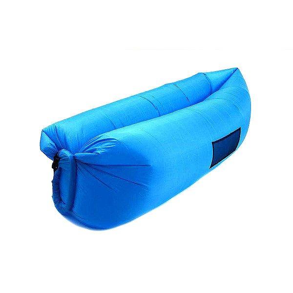 Sofá Inflável Airsofa Azul Para Praia E Camping