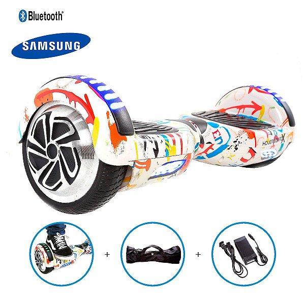 "Hoverboard 6,5"" Grafite Hoverboard Bateria Samsung Bluetooth Smart Balance Com Bolsa"