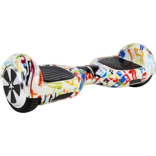 Hoverboard Skate Elétrico Branco Grafite Smart Balance Wheel 6,5 Polegadas