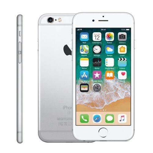 "Iphone 6s 16gb Prata Tela 4.7"" Ios 9 4g 12mp - Apple"