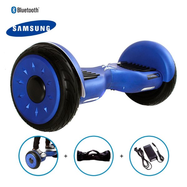 "Hoverboard 10,5"" Azul HoverboardX Bateria Samsung Bluetooth Smart Balance Com Bolsa"