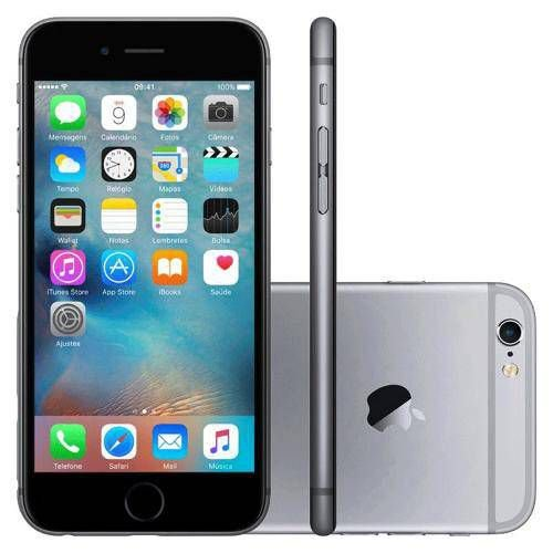 "iPhone 6s 64GB Cinza Espacial Tela 4.7"" iOS 9 4G 12MP"