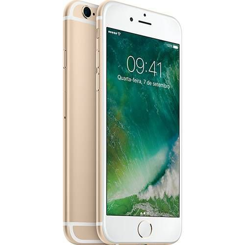 "iPhone 6s 16GB Dourado Tela 4.7"" iOS 9 4G 12MP - Apple"