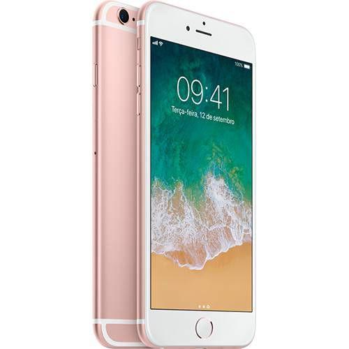 "iPhone 6S Plus 32GB Rosê Tela 5,5"" IOS 4G Câmera 12MP"