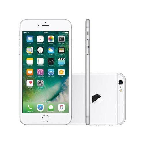 "iPhone 6s Plus 64GB Prata, Tela 5,5"" com 3D Touch, Touch ID, Câmera iSight 12M - Apple"