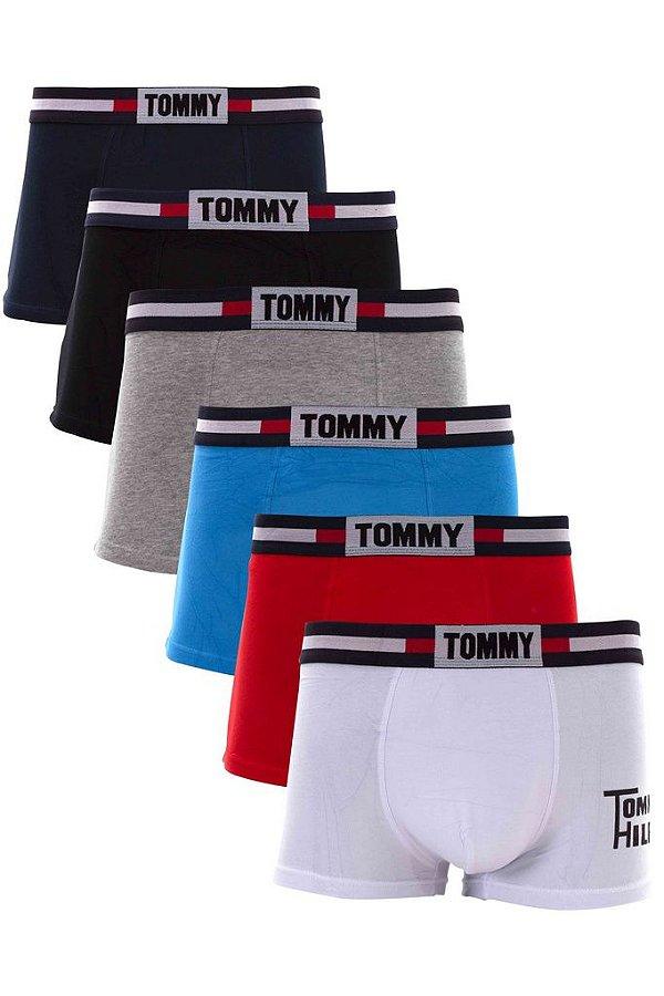 Kit 5 Cueca Boxer Tommy Hilfiger Lisa Diversas Cores