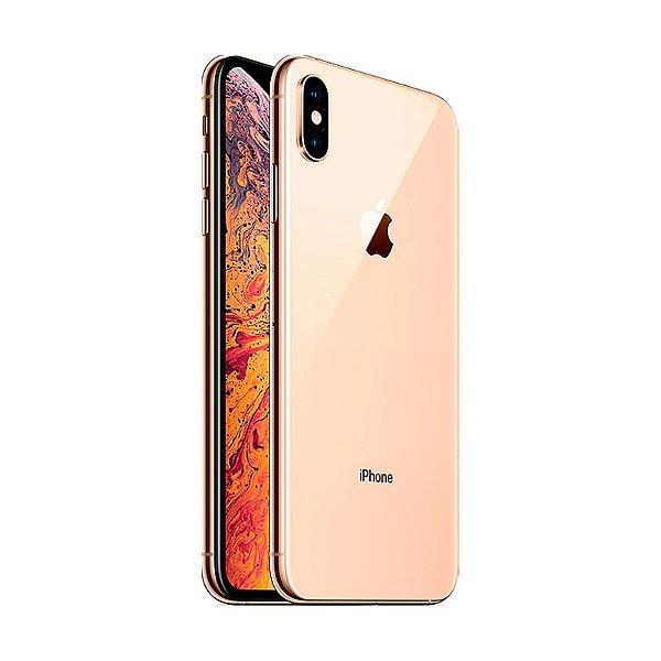 """Iphone X S Max 64GB 2101BZ / 4G LTE / TELA 6.5"""" / Câmeras 12MP + 12MP E 7.1MP / Dourado Apple"""