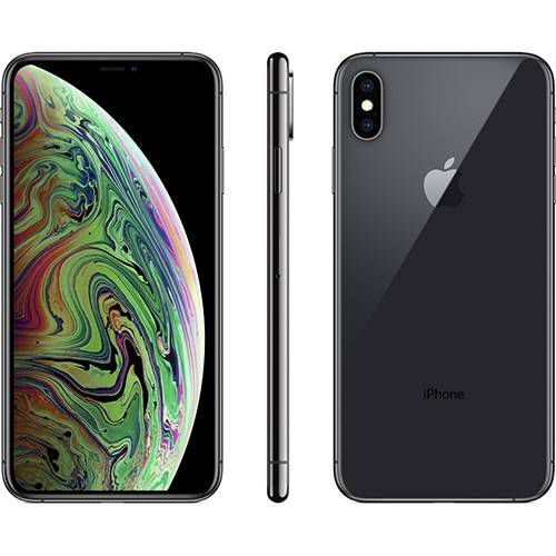 iPhone X s Max Cinza Espacial 256GB IOS12 4G + Wi-fi Câmera 12MP - Apple