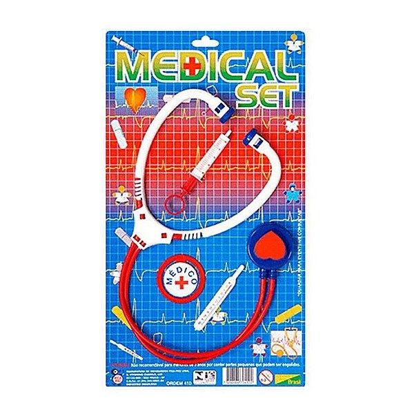 Brinquedo Kit Médico Enfermeiro Infantil Com 4 Peças