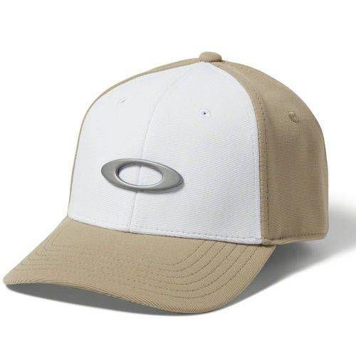 Boné Oakley Tincan Cap Rye Khaki Com Branco Bege