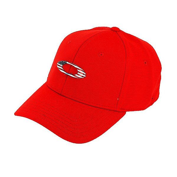 Boné Oakley Tincan Cap Vermelho Com Logo Usa