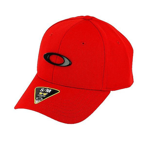 Boné Oakley Tincan Cap Vermelho Com Logo Preto