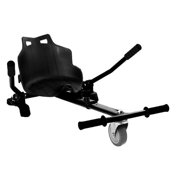 Hoverkart Carrinho Scooter Skate Preto Para Hoverboard Universal Com Regulagem Modelos 6,5, 8,10