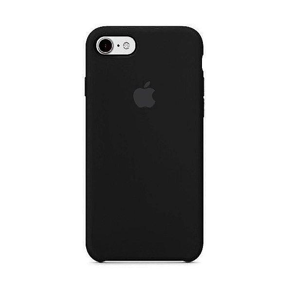 Capa para iPhone 6s Plus em Silicone Apple Preto