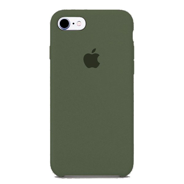 Capa Iphone 7/8 Silicone Case Apple Cinza