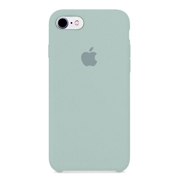 Capa Iphone 7/8 Silicone Case Apple Azul Acinzentado