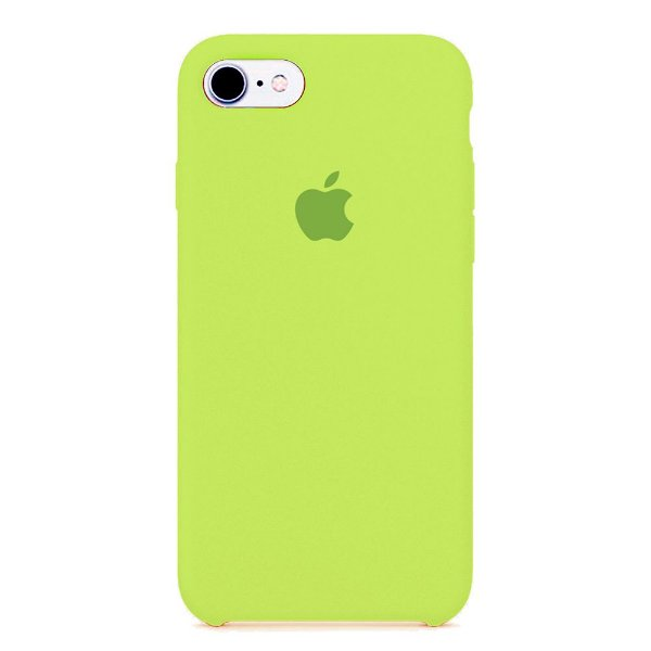 Capa Iphone 7/8 Silicone Case Apple Verde