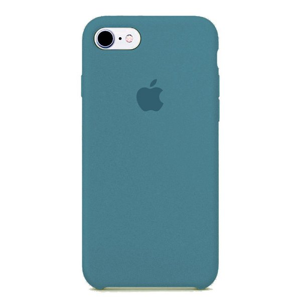 Capa Iphone 7/8 Silicone Case Apple Azul Escuro