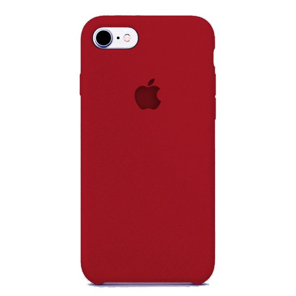 Capa Iphone 7/8 Silicone Case Apple Vinho