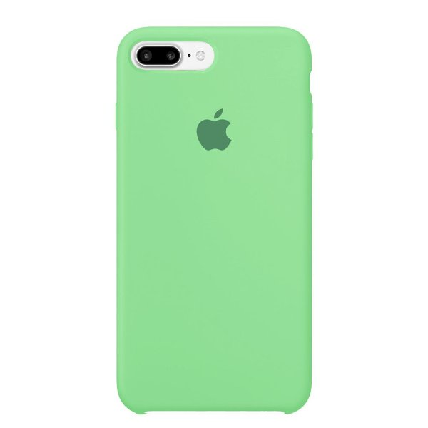 Capa Iphone 7/8 Plus Silicone Case Apple Verde Água
