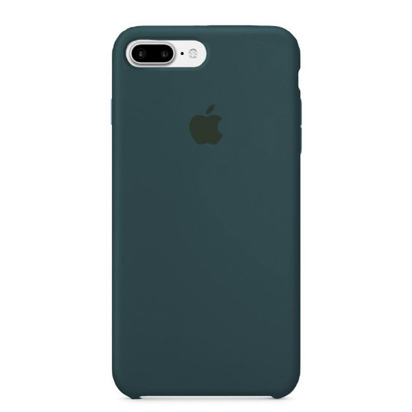 Capa Iphone 7/8 Plus Silicone Case Apple Azul Escuro