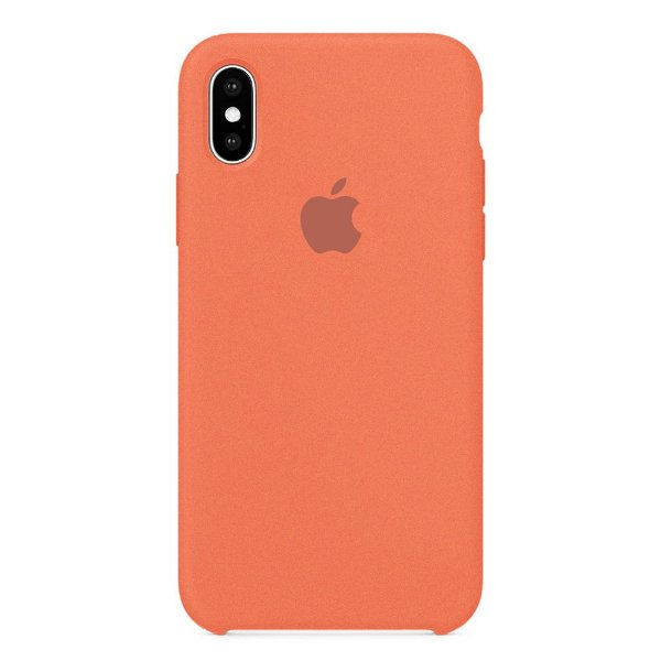 Capa Iphone X Silicone Case Apple Rosa