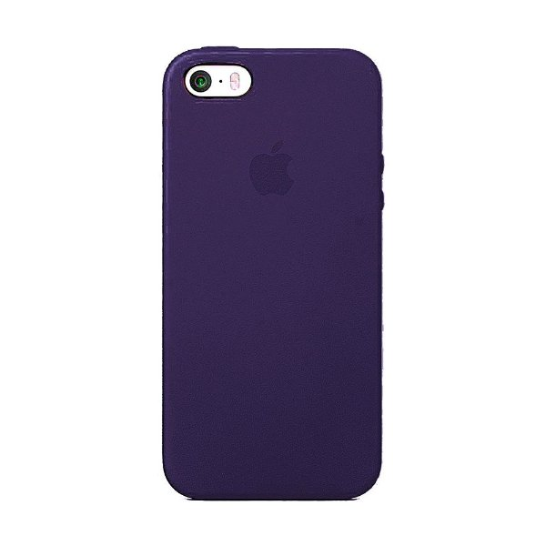 Capa Iphone SE Silicone Case Apple Roxo